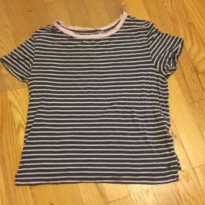 American Eagle Striped Short Sleeve tee